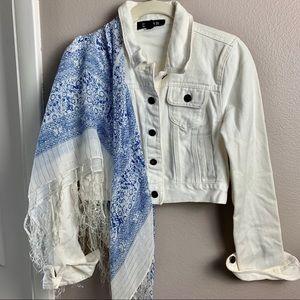 Forever 21 White denim jacket